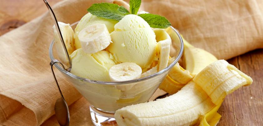 Proteinowe lody bananowe